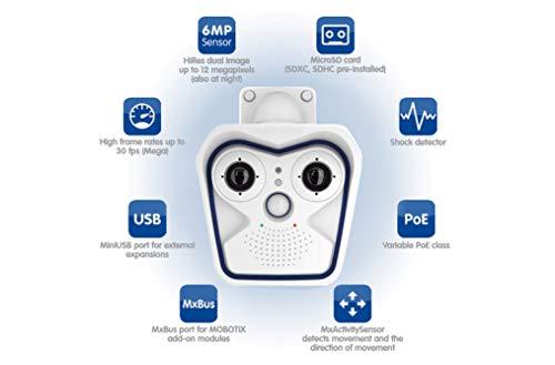 MOBOTIX MX-M16B DUAL-LENS IP Outdoor Camera, 6 MP Resolution, Moon-Light Sensor, Professional Software, Video Analytics - Body Only - Lens Not - Mobotix Ip Camera