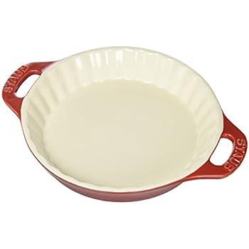 Staub Ceramics 40508-614 Bakeware-Pie-Pans Dish, 9-inch, Cherry