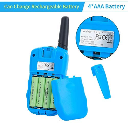 Funkprofi Walkie Talkies for Kids 22 Channels Long Range Rechargeable Walkie Talkies with Battery and Charger, Gift for Boys and Girls, 1 Pair (Blue) by Funkprofi (Image #6)