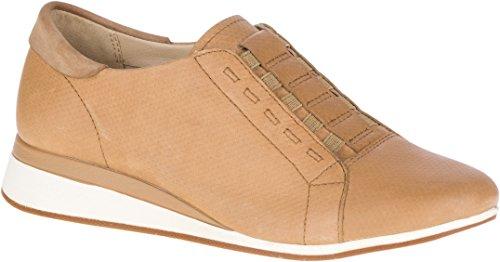 Hush Puppies Kvinna Evaro Slipon Oxford Loafer Chino Tan Präglat Läder