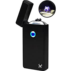 Arc Lighter - XBULL Electronic Lighter NEW Technology NEW Generation ★NO More Narrow Arcs★ Plasma Lighter, Wider Arcs, Dual Arc Beam, USB Rechargeable lighter Windproof, USB cable included