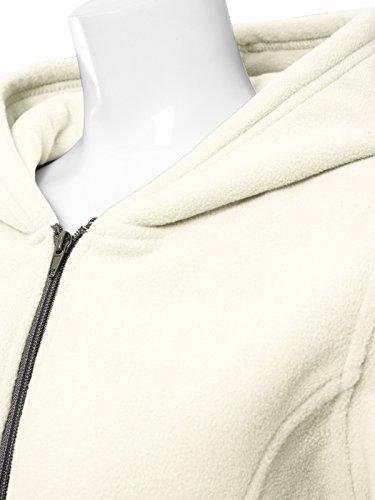 JayJay Women Ultra Soft Fleece Long Sleeve Hoodie Jacket,Beige,M by JayJay Active (Image #4)
