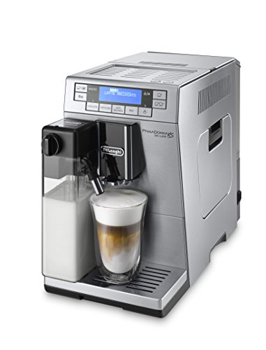 DeLonghi PrimaDonna Super Automatic Espresso Machine, Cappuccino and Coffee Maker with Milk Frother, Stainless Steel, ETAM36365M
