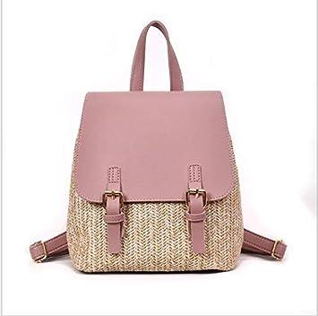 OneMoreT Mochila de paja para mujer, mochila de verano para adolescentes y niñas, mochilas de viaje de calidad, rosa: Amazon.es: Instrumentos musicales