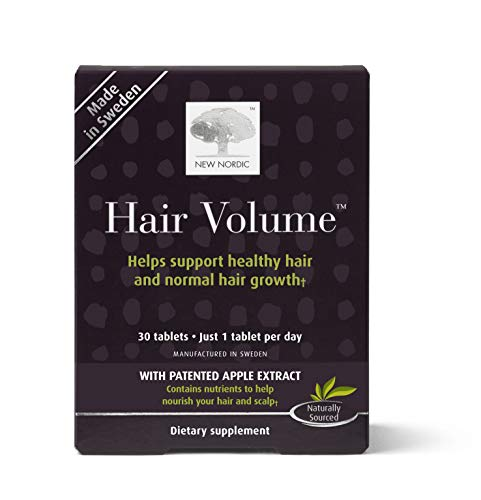 Extract Tablets (New Nordic Hair Volume, 30 Tablets Hair Growth Supplement, Biotin and Naturally Sourced Ingredients)