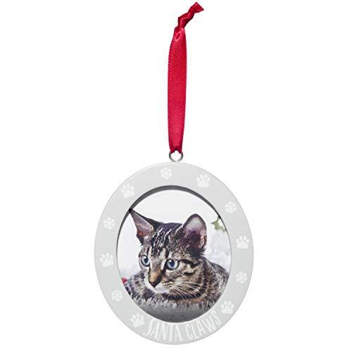 Pearhead Santa Claws Cat Photo Ornament