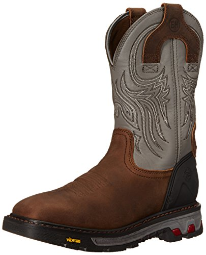 Justin Original Work Boots Men's Commander X-5 WK2100, Tan Waxy Milled Buffalo/Gunmetal Gray, 12 D -