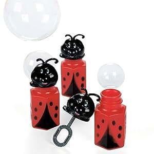 Ladybug Bubble Bottles - party favor bubbles -Pack of 24