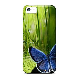 New Cute Funny Blue Butterfly Case Cover/ Iphone 5c Case Cover
