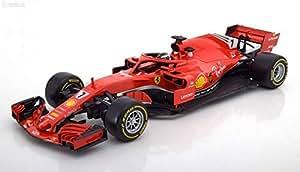2018 Ferrari Racing Formula 1 F1 SF71H #7 Kimi Raikkonen 1/18 Diecast Model Car by Bburago 16806KR