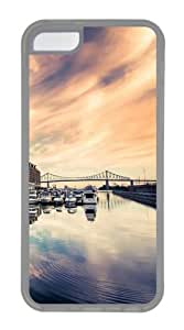iPhone 5C Case & Cover - Luxury Boats In Port Custom iPhone 5C Case Cover - TPU - Transparent