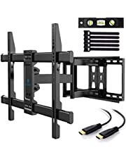 PERLESMITH TV Wall Mount Full Motion Swivel Dual Articulating Arm for Most 37 -70 inch LED, LCD, OLED, Plasma TVs up to VESA 600x400mm, 132lbs