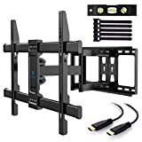 TV Wall Mount Full Motion Swivel Dual Articulating Arm for Most 37 -70 inch LED, LCD, OLED, Plasma TVs up to VESA 600x400mm, 132lbs by PERLESMITH