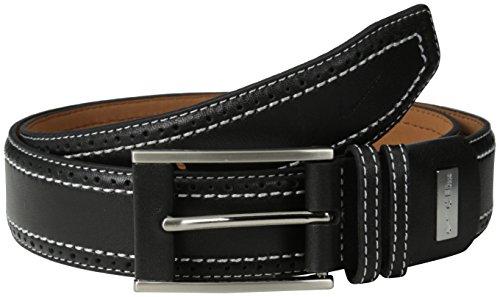 Nike Mens Perforated Edge Premium Belt in Black Black