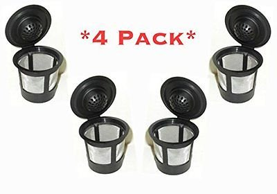 4 Permanent Coffee Filters for Keurig B30, B31, B40, B41, B60, B70, K40, K45, K65, K75. Replaces Keurig My K-cup(tm), Solofill(tm), Ekobrew(tm) and all other reusable coffee filters for Keurig Home Single Cup Brewing Systems (K Cup Refillable)