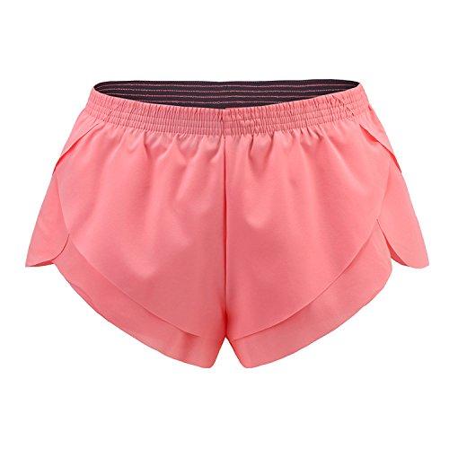 MAYUAN520 Sport Fitness Yoga Shorts für Sport Laufen Abnehmen Strand Wandern Weibliche Running Damen Hohe Taille Fitness Radfahren Sport Kurz