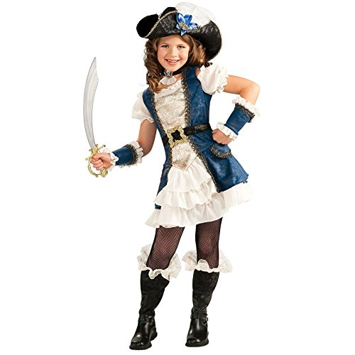 Pirate Dress For Girl (Rubie's Costume Co - Blue Pirate Girl Child Costume - Medium (8/10))