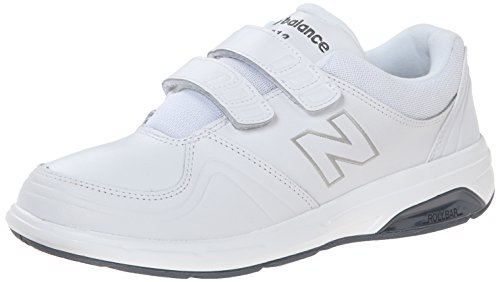New Balance Women's WW813 Hook and Loop Walking Shoe, White, 9.5 B US (Womens Hook)