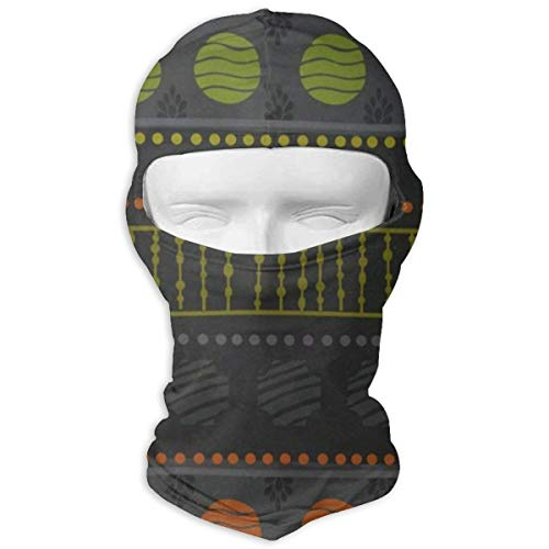 GREEDCLOUD Africa Art Cute Full Face Masks UV Balaclava Hood Ski Headcover Motorcycle Neck Warmer Tactical Hood for Cycling Outdoor Sports Snowboard