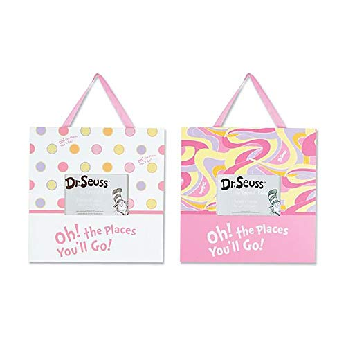 Trend Lab 2 Piece Dr.Seuss Frame Set, Oh! The Places You'll Go! Pink ()