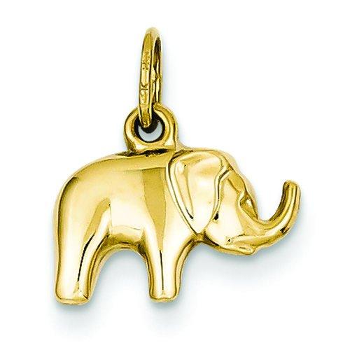 Gold 3d Elephant Charm - 5