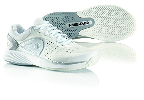 HEAD Women's Sprint Pro Court Shoe,White/Gray/Silver,8.5 M US by HEAD
