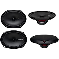 2) Rockford Fosgate R168X2 6x8 110W + 2) R169X2 6x9 130W 2Way Coaxial Speakers