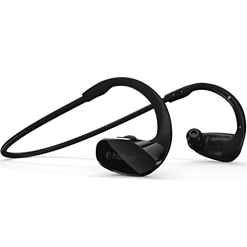 Phaiser BHS-530 Bluetooth Headphones Runner Headset Sport Earphones with Mic and Lifetime Sweatproof Warranty - Wireless Earbuds for Running, Blackout