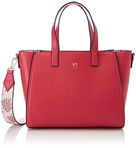 Ynot Shopper, Borsa A Donna Tracolla, 10x23x35 cm (w X H L) Rosa (fuxia)