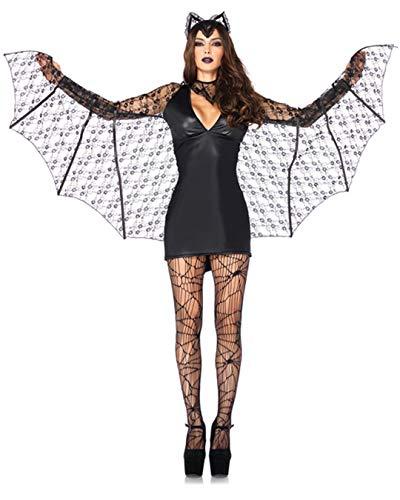 Leg Avenue Women's 3 Piece Moonlight Bat, black, Small