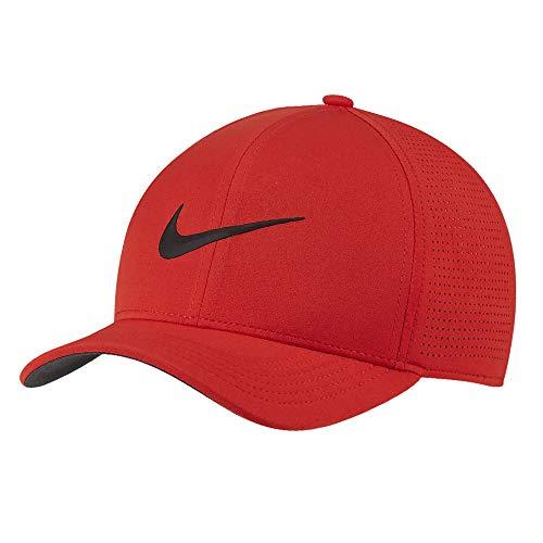 Nike AeroBill Classic 99 Performance Golf Cap 2019 Habanero Red/Anthracite/Black Small/Medium (Best Mens Hats 2019)