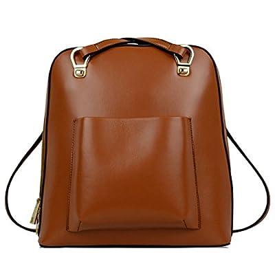 Missmay Women's Genuine Leather Backpack Purse Handbag Casual Satchel Tote Shoulder Bag Young Ladies On Sale