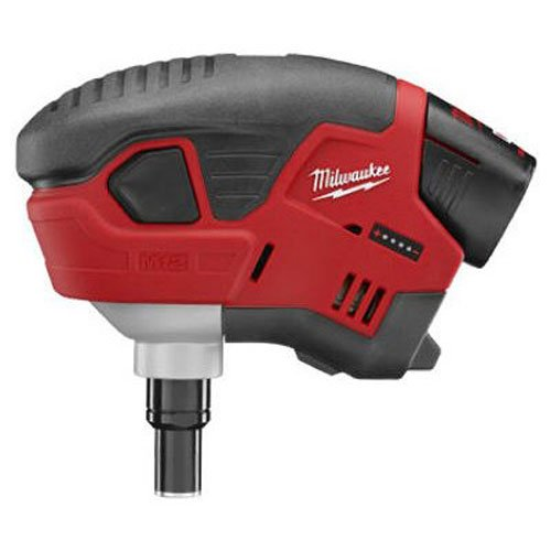 Essentials Palm Kit (Milwaukee M12 Cordless Palm Nailer Kit, 2458-21, red lithium battery)