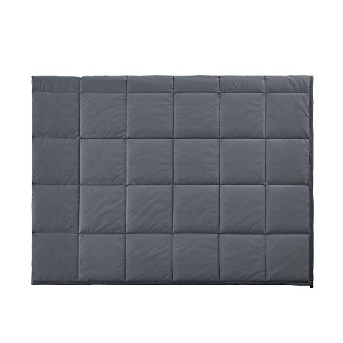 RelaxBlanket Premium Cotton Adult Weighted Heavy Blanket | 60''x80'',15lb | Enjoy Natural Deep Sleep | Dark Grey