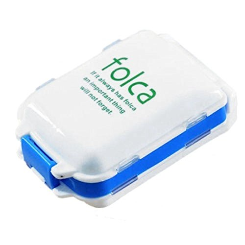 Pill Box - TOOGOO(R)Travel 8 Compartment Medicine Tablet Holder Organizer Dispenser Case Pill Box