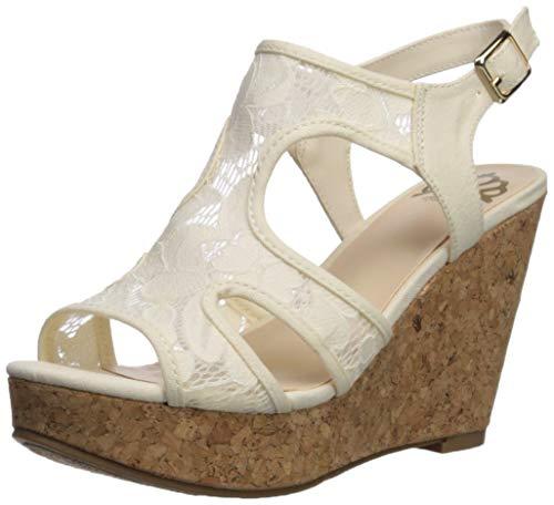 Fergalicious Women's Kenzie Wedge Sandal Cream 7 M US