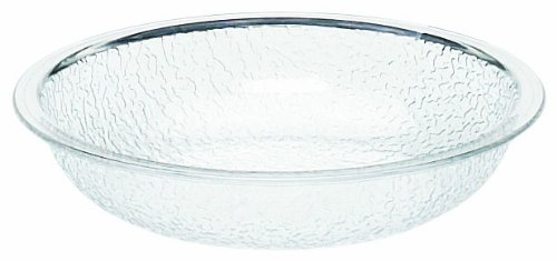 (Cambro PSB6 18.8-Quart Capacity 6-Inch ID Camwear Clear Polycarbonate Round Pebbled Bowl (Case of 12) )