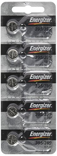 (Energizer 395 or 399 Button Silver Oxide SR927SW Cell Watch Battery Pack of 5 Batteries)