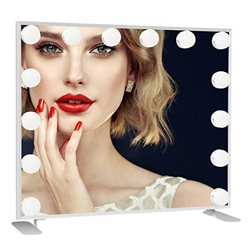 Vanity Mirror with Lights Professional Hollywood Lighted Makeup Mirror With Smart Touch Button Dimming Bulbs Tabletop or Wall-Mounted 14 LED Bulbs Included