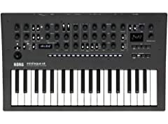 4-voice Analog/Digital Synthesizer with 2 VCOs per Voice, Digital Multi-engine, Effects, 16-step Polyphonic Sequencer, 4 Voice Modes, and MIDI/Sync I/O
