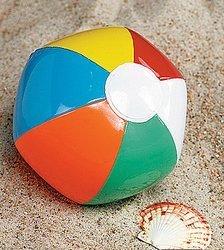 Wedding Beach Balls (48 Mini BEACH BALLS/6-Panel Traditional Style Rainbow 6