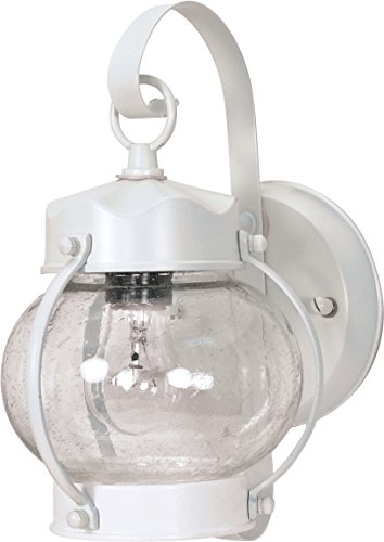 - SATCO PRODUCTS OUTDOOR ONION WALL LANTERN-1 LIGHT-WHITE 60/630