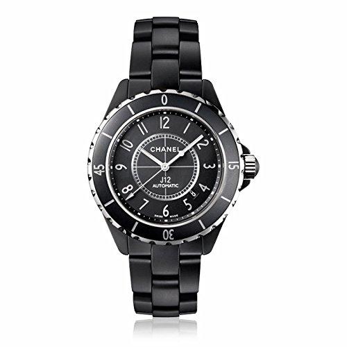 Chanel Chanel J12 Mate Negro Automático Cerámica Unisex Reloj H3131