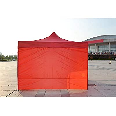 Injoyo Instant Canopy SunWall for Straight Leg Canopies, Water-Resistant Sun-Proof Sidewall Sunshade Shelter, Protect from Sun Rain Water Wind - Red A 190x570cm: Sports & Outdoors
