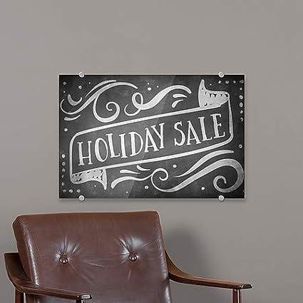 Holiday Sale CGSignLab Chalk Banner Premium Acrylic Sign 36x24