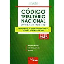 Código Tributário Nacional 2020 - Mini: lei nº 5.172, de 25 de Outubro de 1966
