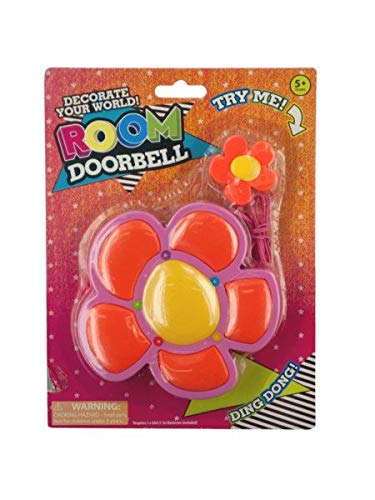 Kole Imports Flower Shape Room Doorbell, Red, Yellow