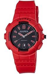 "Haurex Italy Men's 2P504URR ""Tremor"" Red Plastic and Rubber Watch"