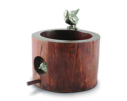 Vagabond House Song Bird Wood Nut Bowl 6.5