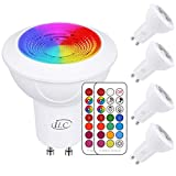 iLC GU10 LED Light Bulb Color Changing 12 Colors 3W Dimmable Warm...